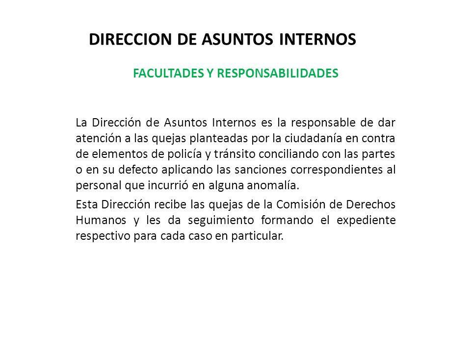 DIRECCION DE ASUNTOS INTERNOS