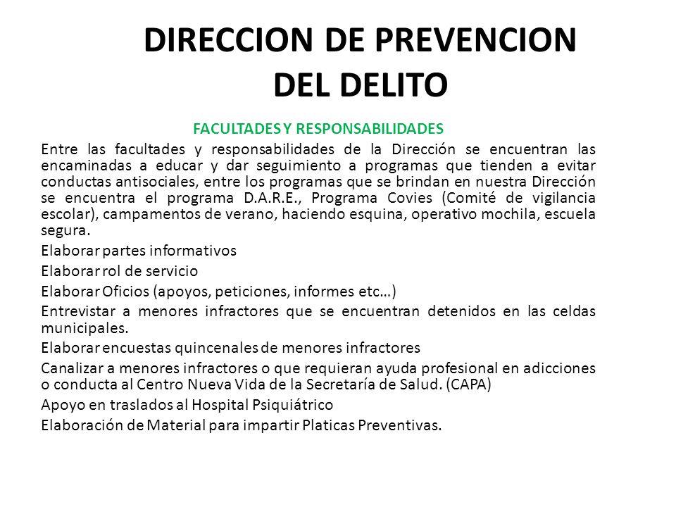 DIRECCION DE PREVENCION DEL DELITO