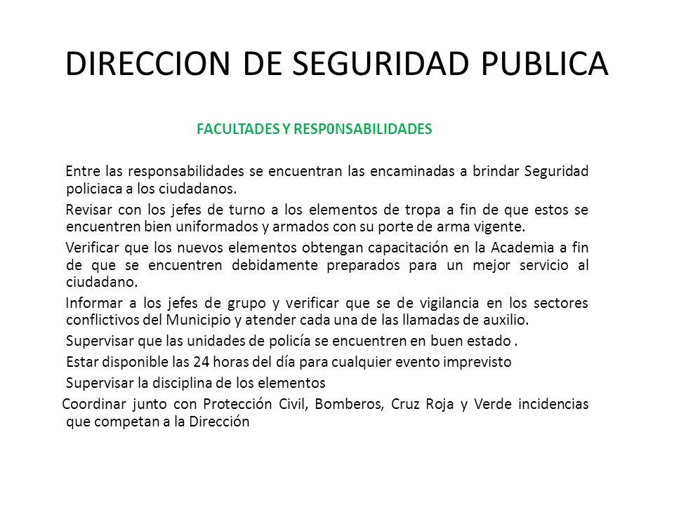 DIRECCION DE SEGURIDAD PUBLICA