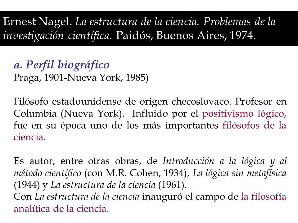 Ernest Nagel. La estructura de la ciencia