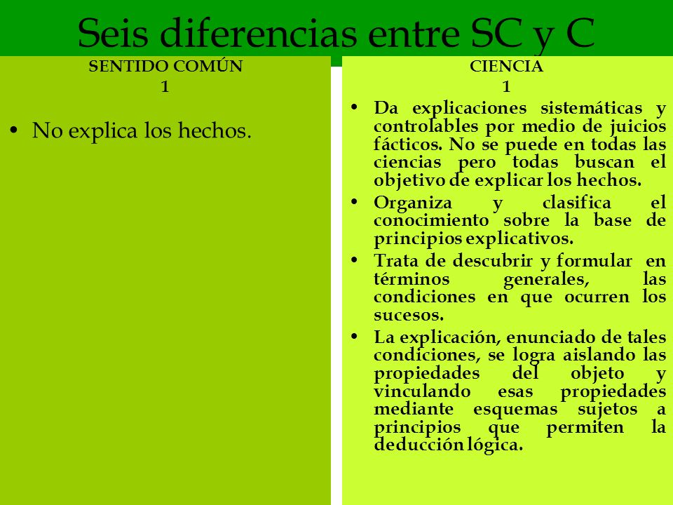 Seis diferencias entre SC y C