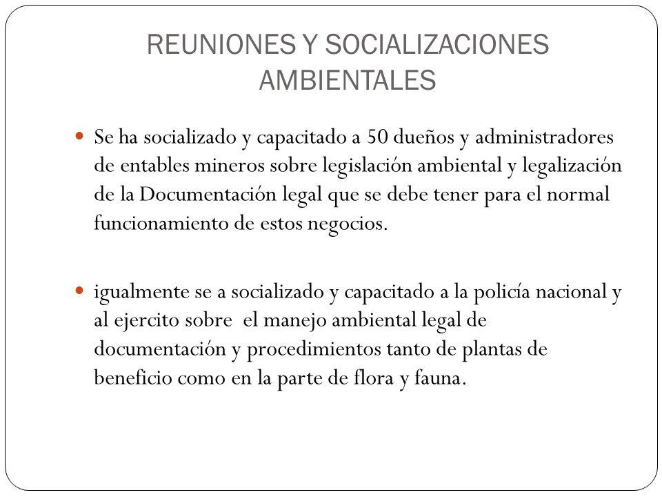REUNIONES Y SOCIALIZACIONES AMBIENTALES