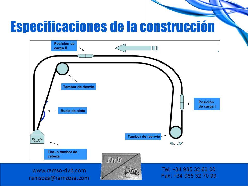 Especificaciones de la construcción