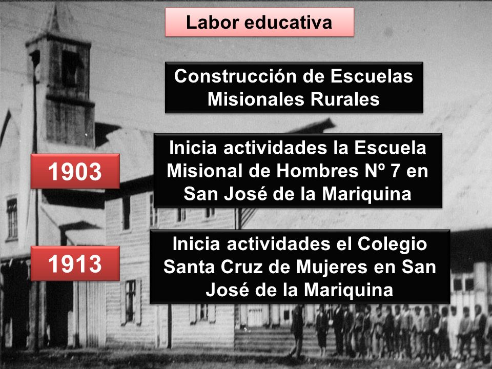 Construcción de Escuelas Misionales Rurales