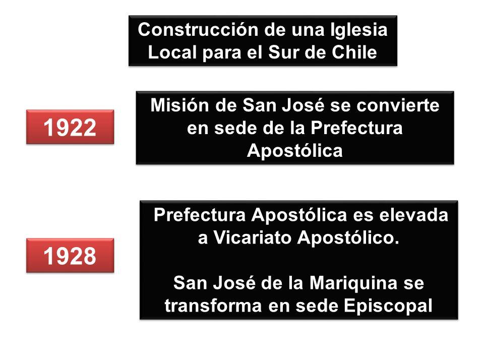 1922 1928 Construcción de una Iglesia Local para el Sur de Chile
