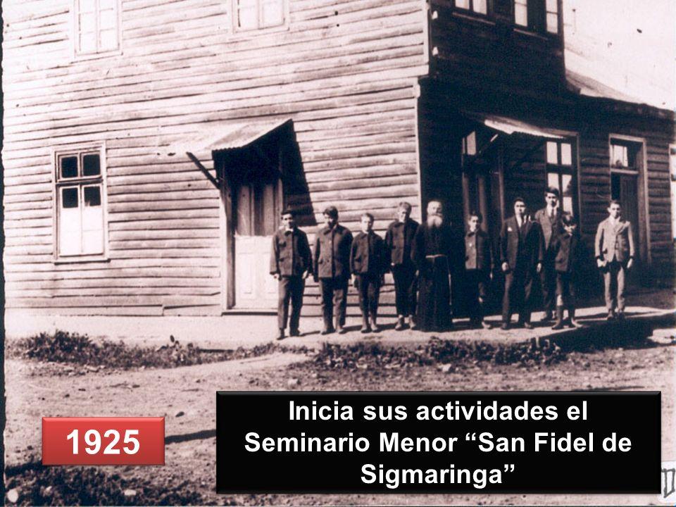 Inicia sus actividades el Seminario Menor San Fidel de Sigmaringa
