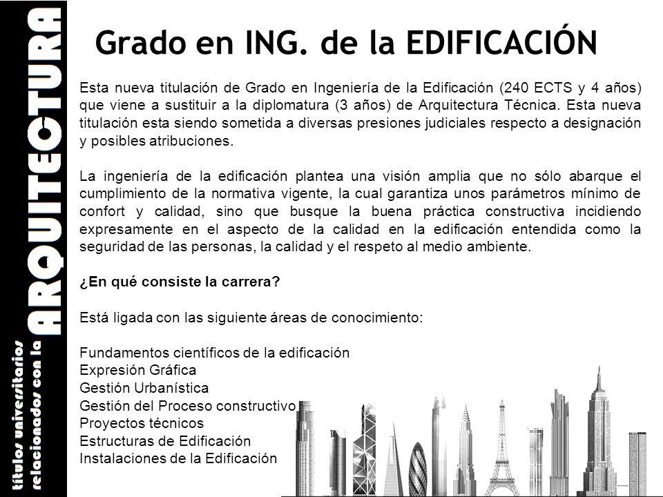 Grado en ING. de la EDIFICACIÓN