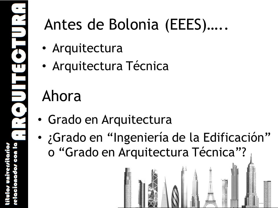 Antes de Bolonia (EEES)…..