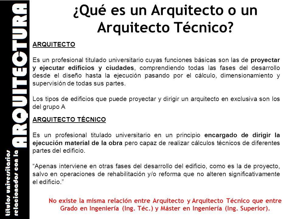 ¿Qué es un Arquitecto o un Arquitecto Técnico