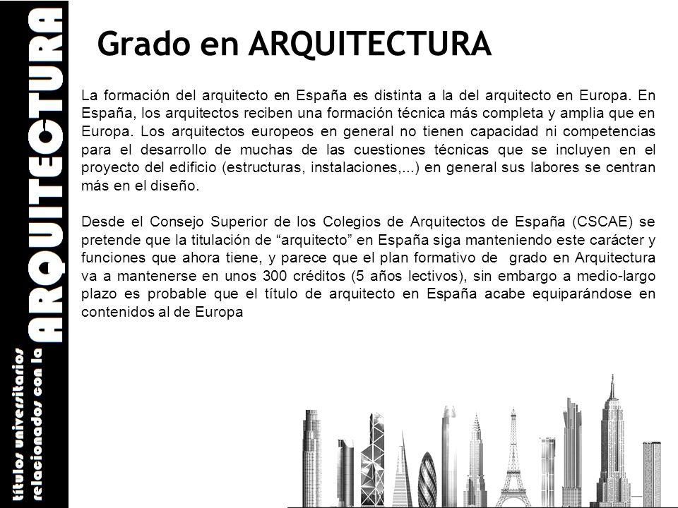 Arquitectura y grado en ingenier a de la edificaci n ppt for Grado superior arquitectura
