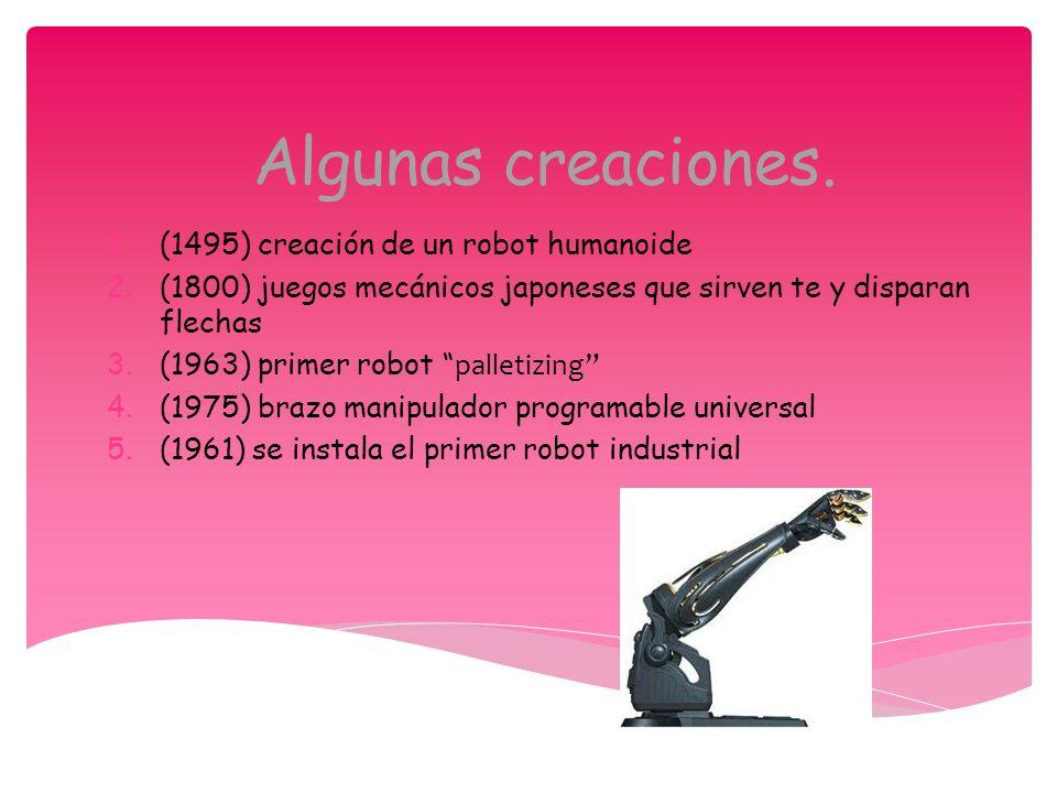 Algunas creaciones. (1495) creación de un robot humanoide