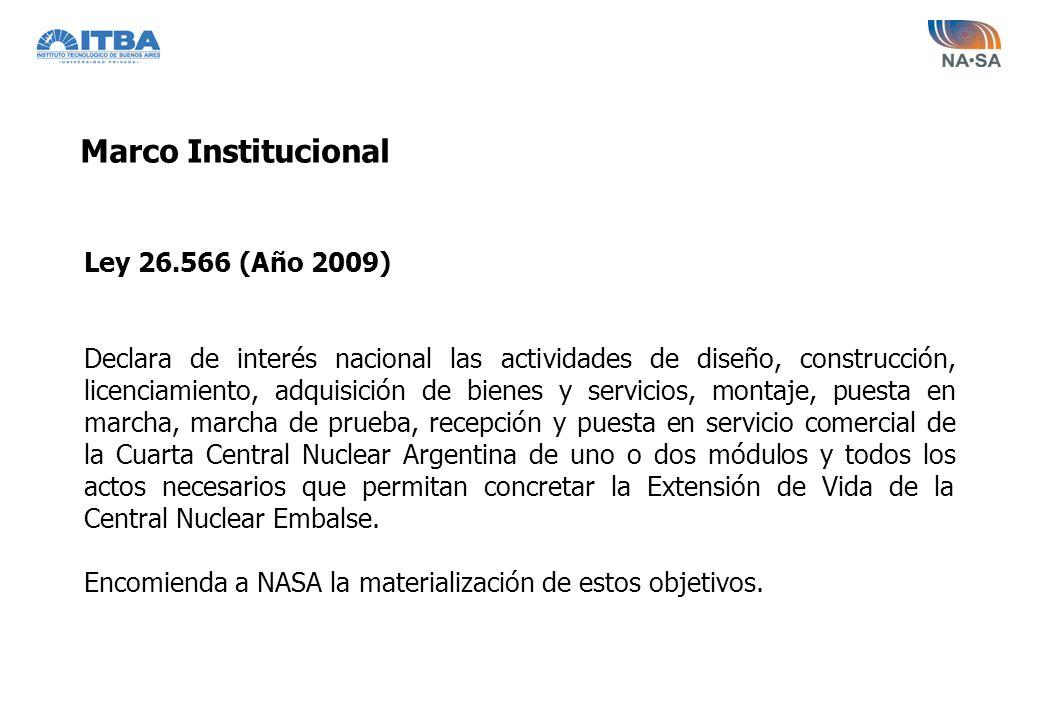 Marco Institucional Ley 26.566 (Año 2009)