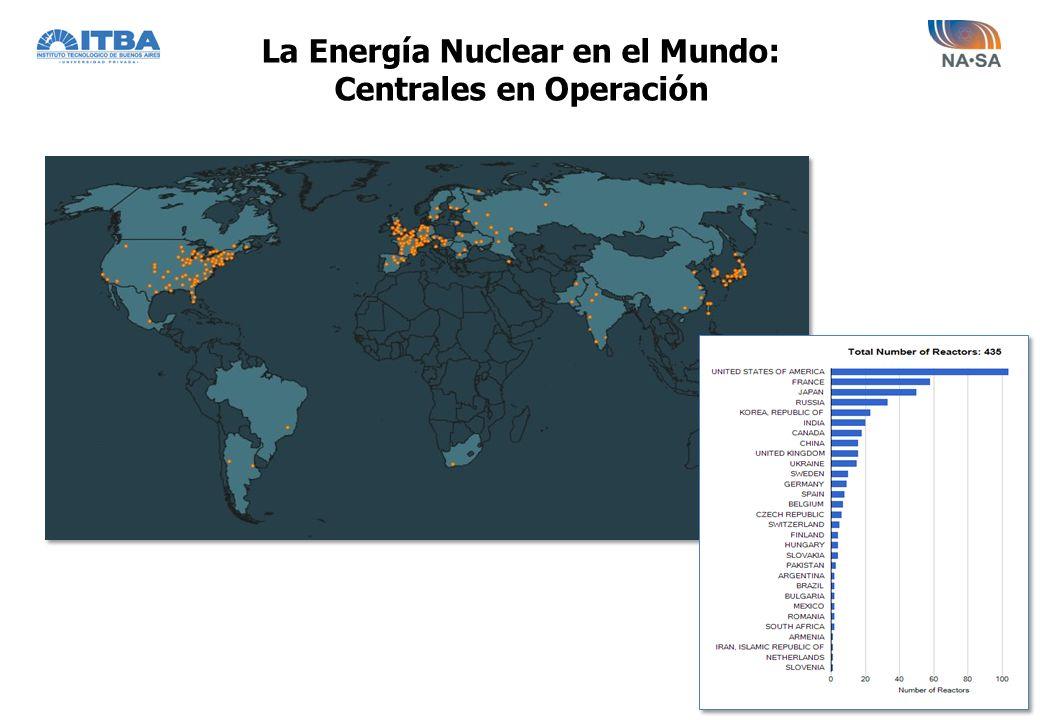 La Energía Nuclear en el Mundo: Centrales en Operación