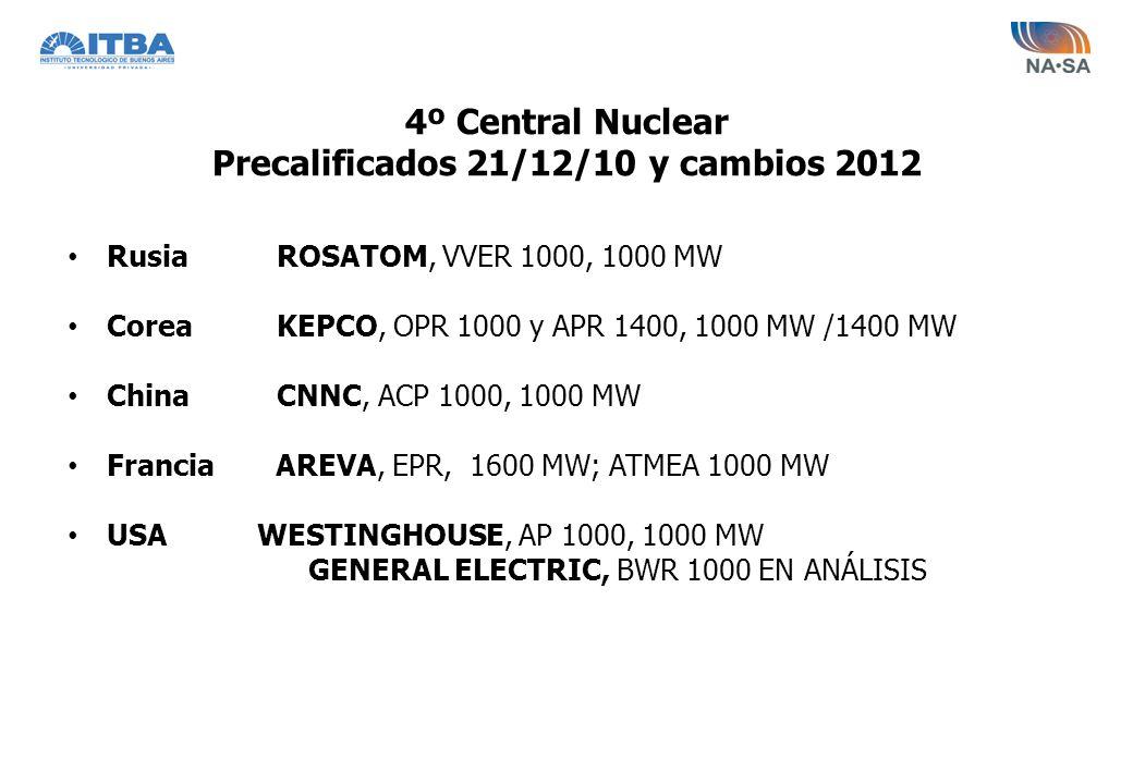 4º Central Nuclear Precalificados 21/12/10 y cambios 2012