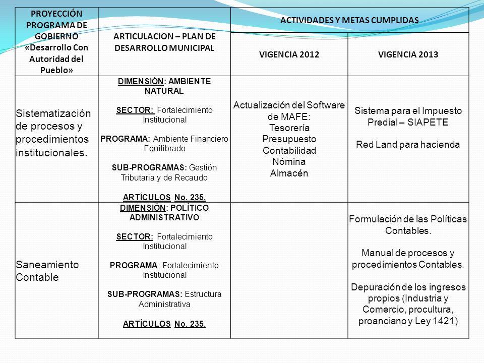 Sistematización de procesos y procedimientos institucionales.