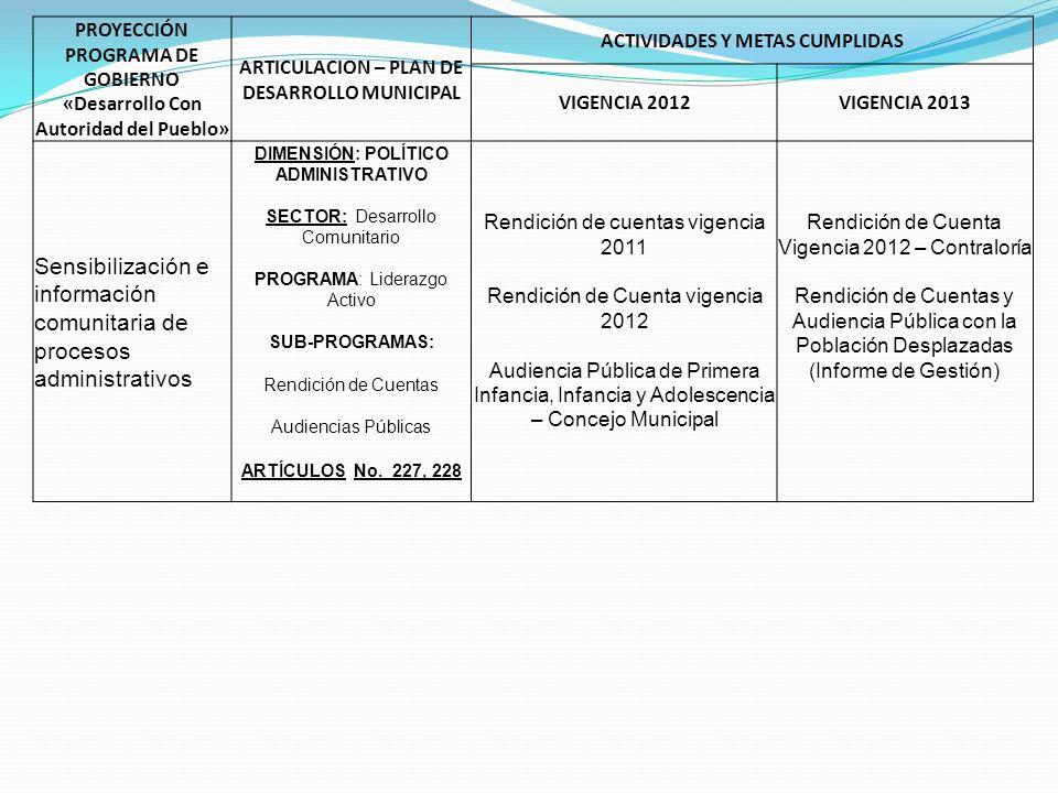 Sensibilización e información comunitaria de procesos administrativos