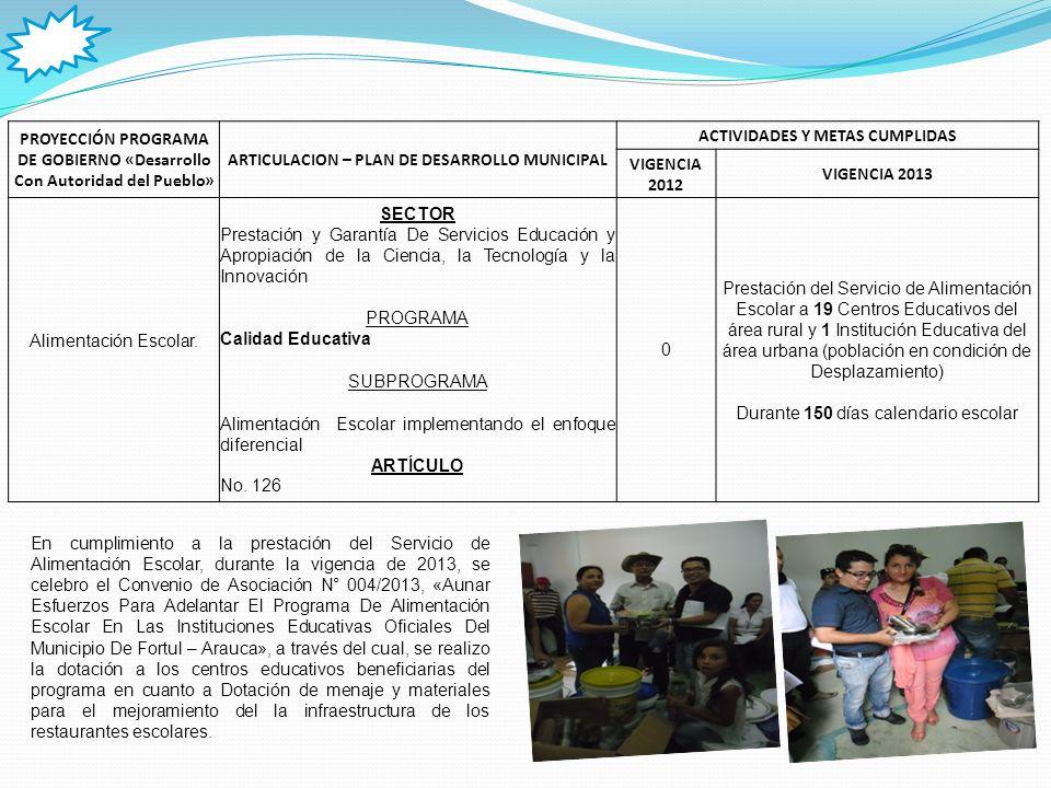 PROYECCIÓN PROGRAMA DE GOBIERNO «Desarrollo Con Autoridad del Pueblo»