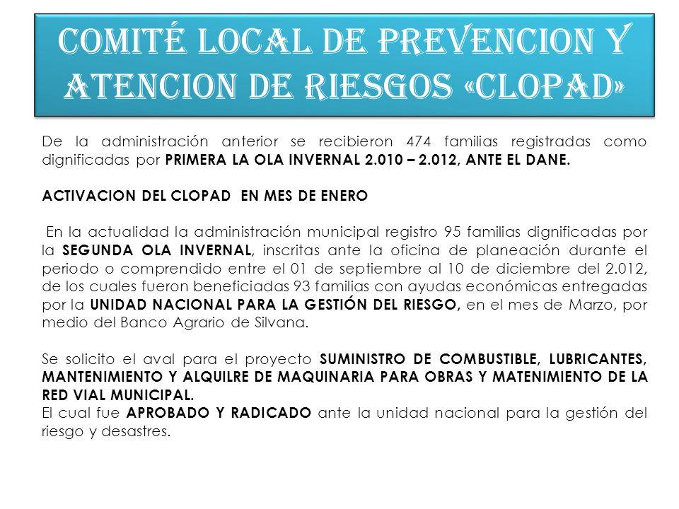 COMITÉ LOCAL DE PREVENCION Y ATENCION DE RIESGOS «CLOPAD»