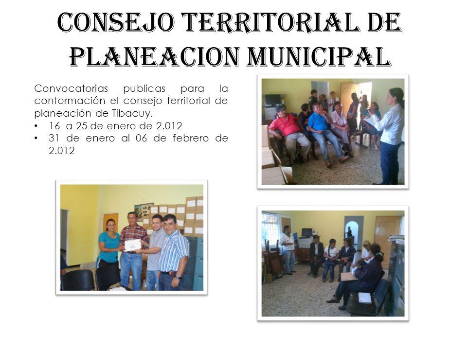CONSEJO TERRITORIAL DE PLANEACION MUNICIPAL