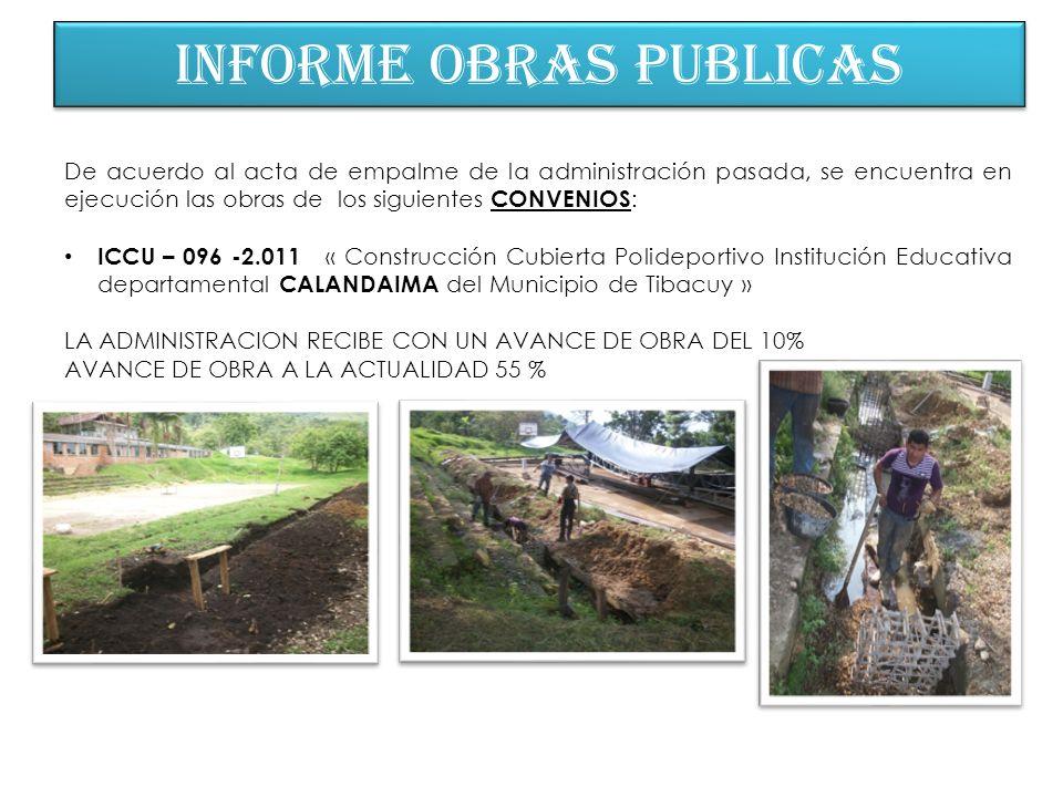 INFORME OBRAS PUBLICAS