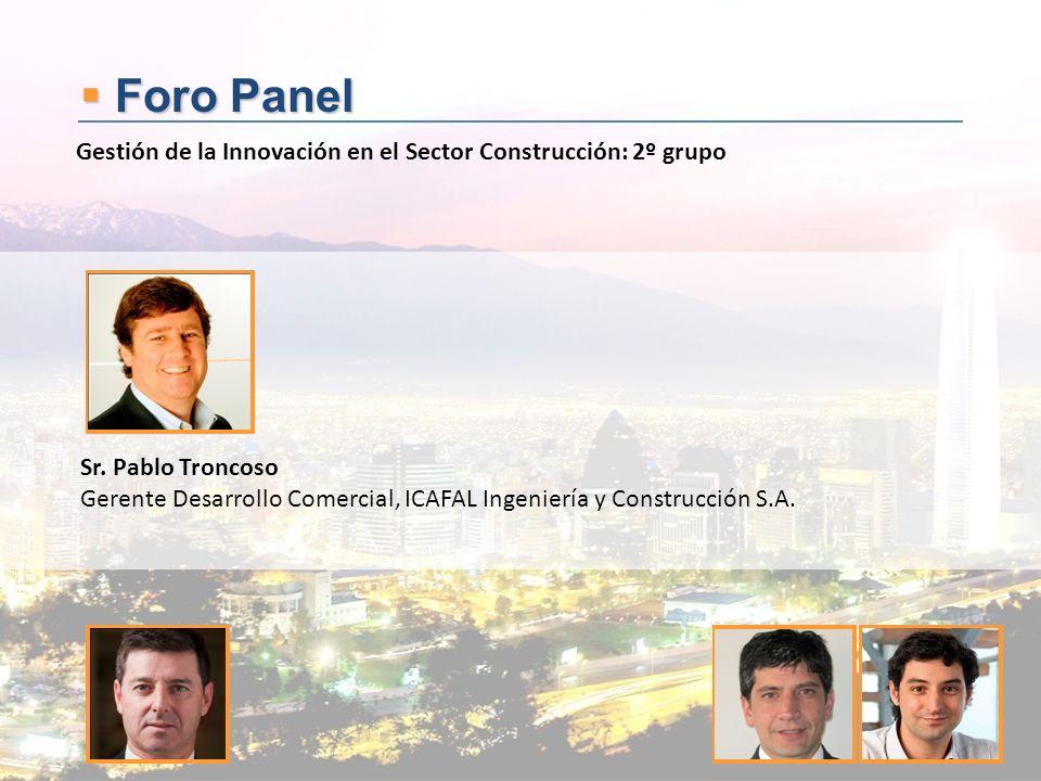 Foro Panel Gestión de la Innovación en el Sector Construcción: 2º grupo. Sr. Pablo Troncoso.