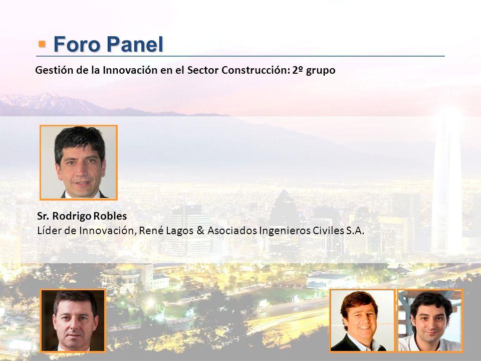 Foro Panel Gestión de la Innovación en el Sector Construcción: 2º grupo. Sr. Rodrigo Robles.