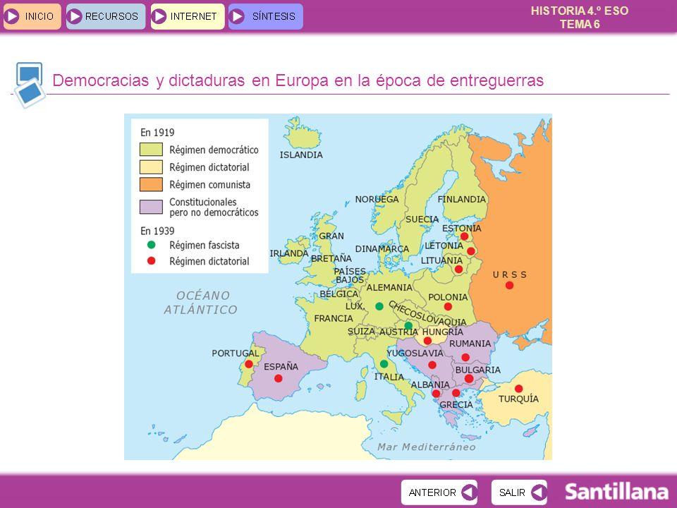 Democracias y dictaduras en Europa en la época de entreguerras