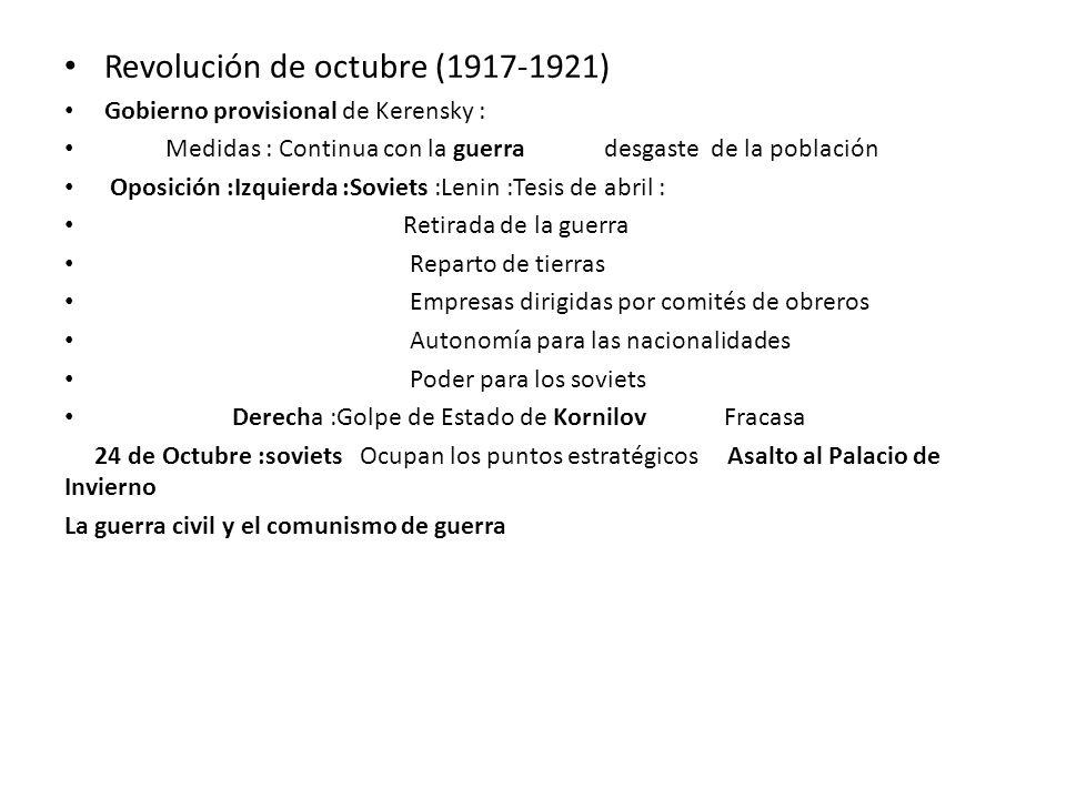 Revolución de octubre (1917-1921)