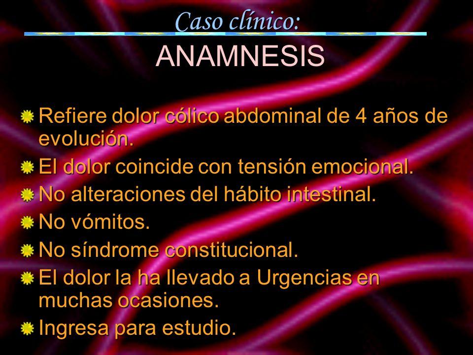 Caso clínico: ANAMNESIS