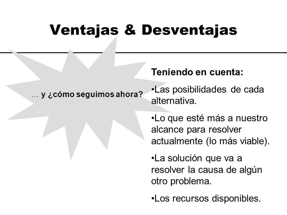 Ventajas & Desventajas