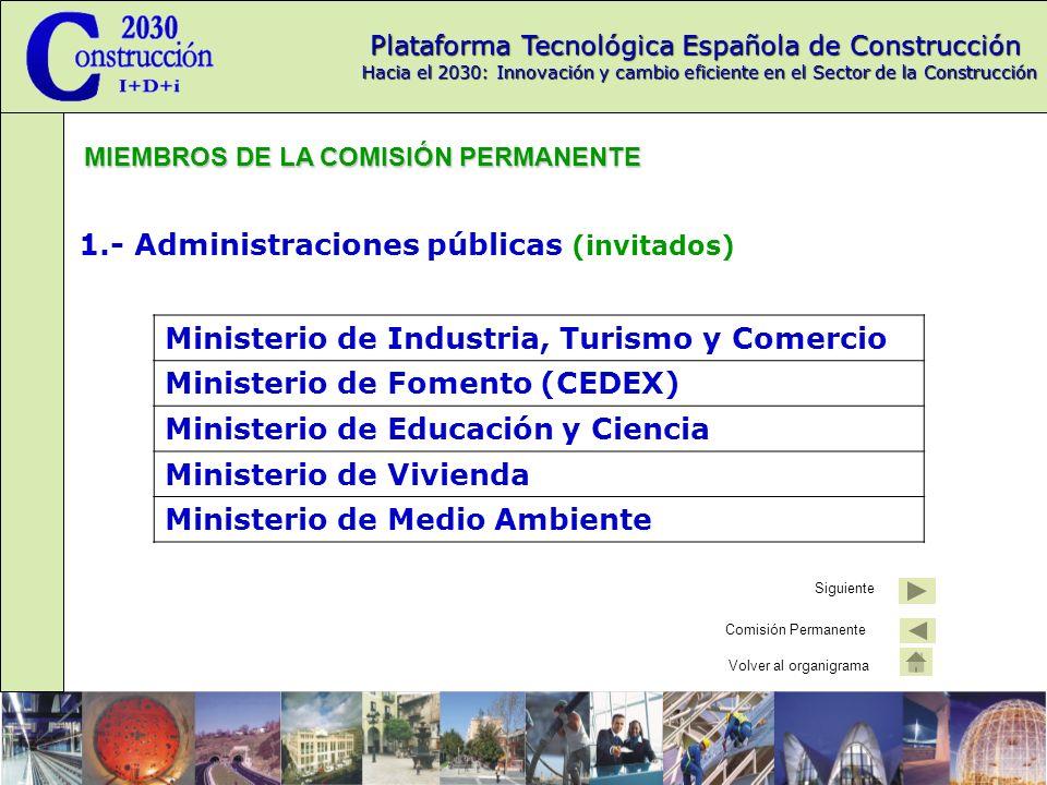 1.- Administraciones públicas (invitados)