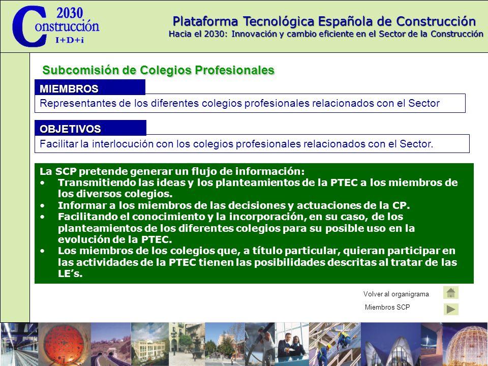 Subcomisión de Colegios Profesionales
