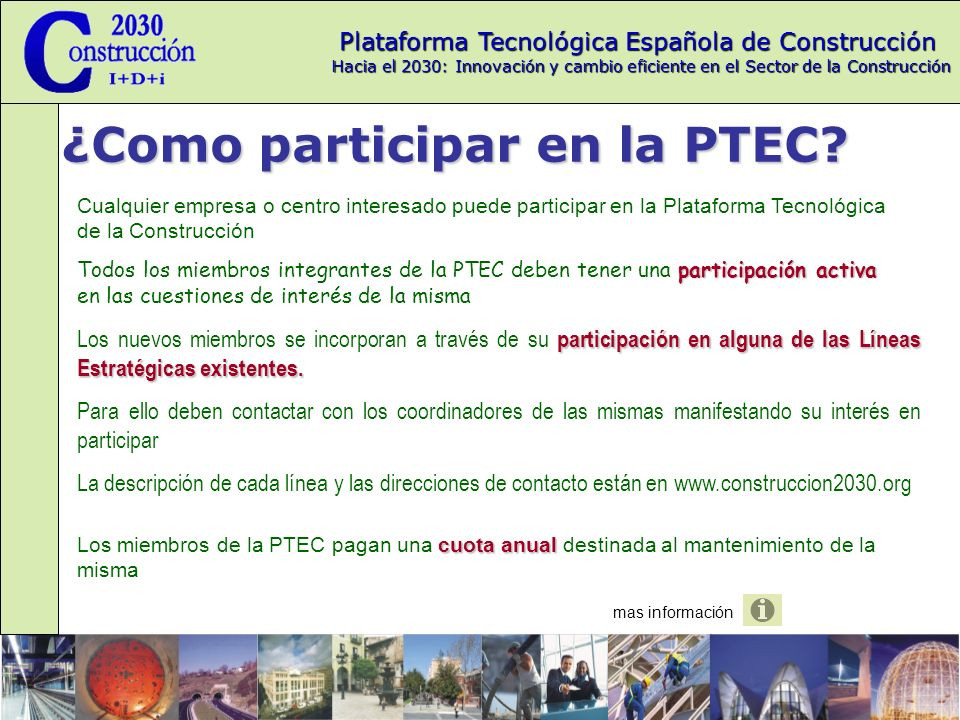 ¿Como participar en la PTEC
