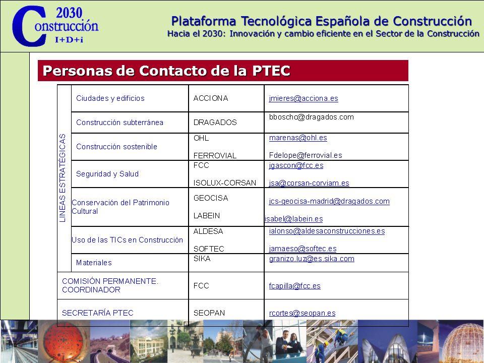Personas de Contacto de la PTEC