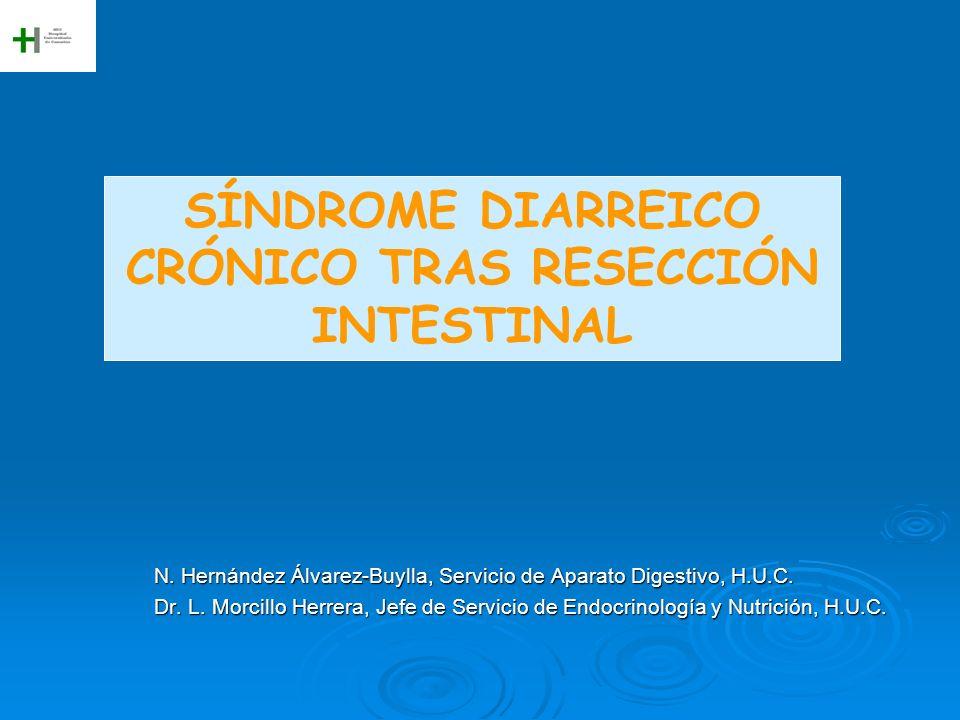 SÍNDROME DIARREICO CRÓNICO TRAS RESECCIÓN INTESTINAL