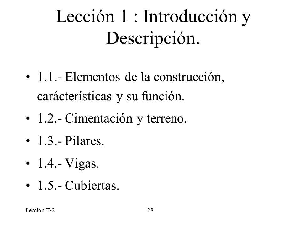 Lección 1 : Introducción y Descripción.