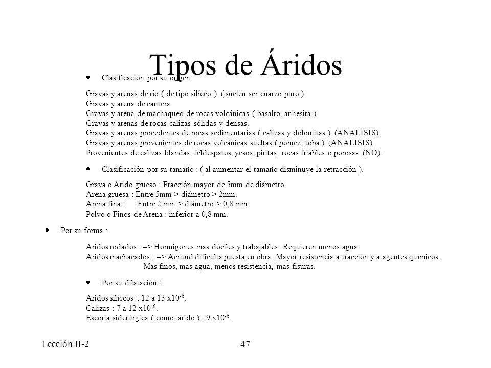 Tipos de Áridos Lección II-2 · Clasificación por su origen: