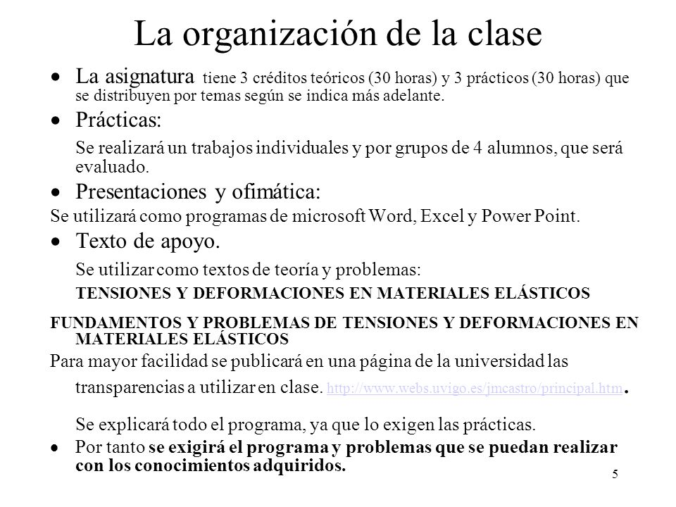 La organización de la clase