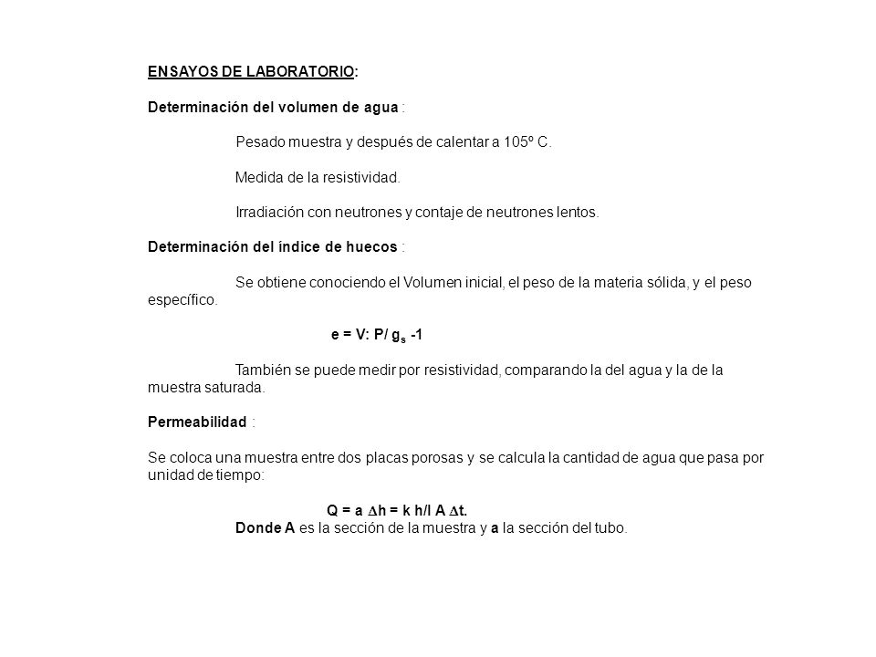 ENSAYOS DE LABORATORIO: