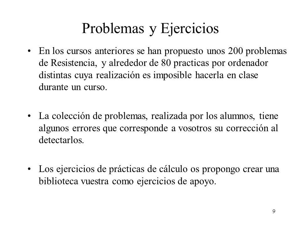 Problemas y Ejercicios