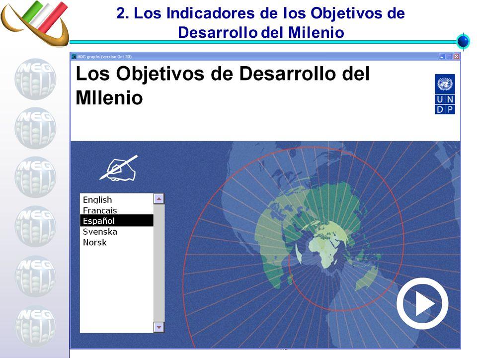 2. Los Indicadores de los Objetivos de Desarrollo del Milenio
