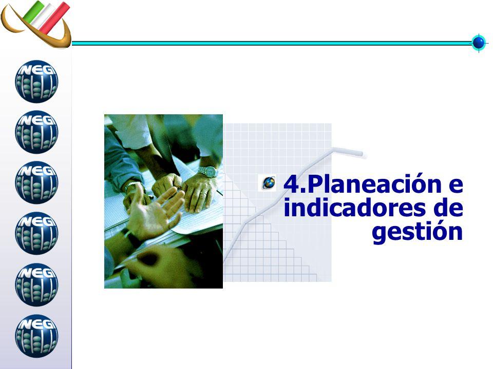 4.Planeación e indicadores de gestión