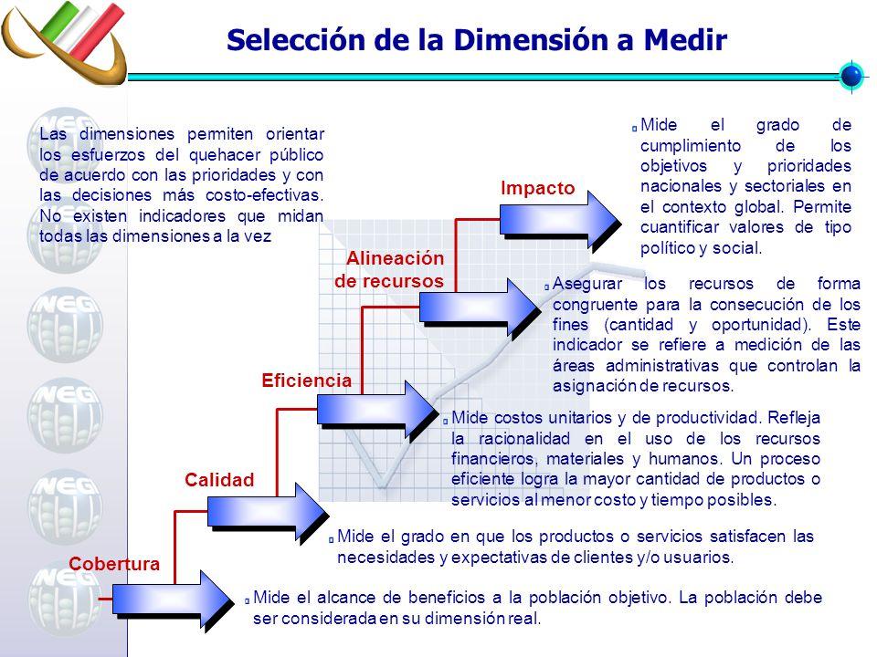 Selección de la Dimensión a Medir