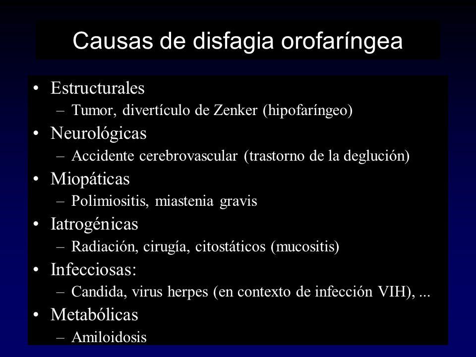 Causas de disfagia orofaríngea