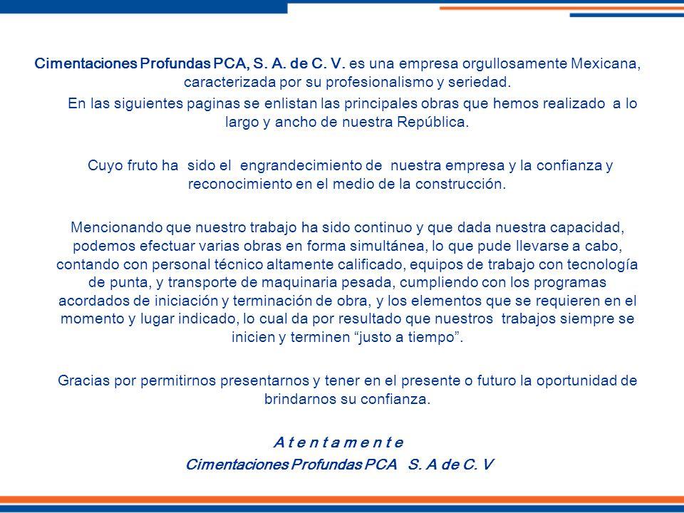 Cimentaciones Profundas PCA S. A de C. V