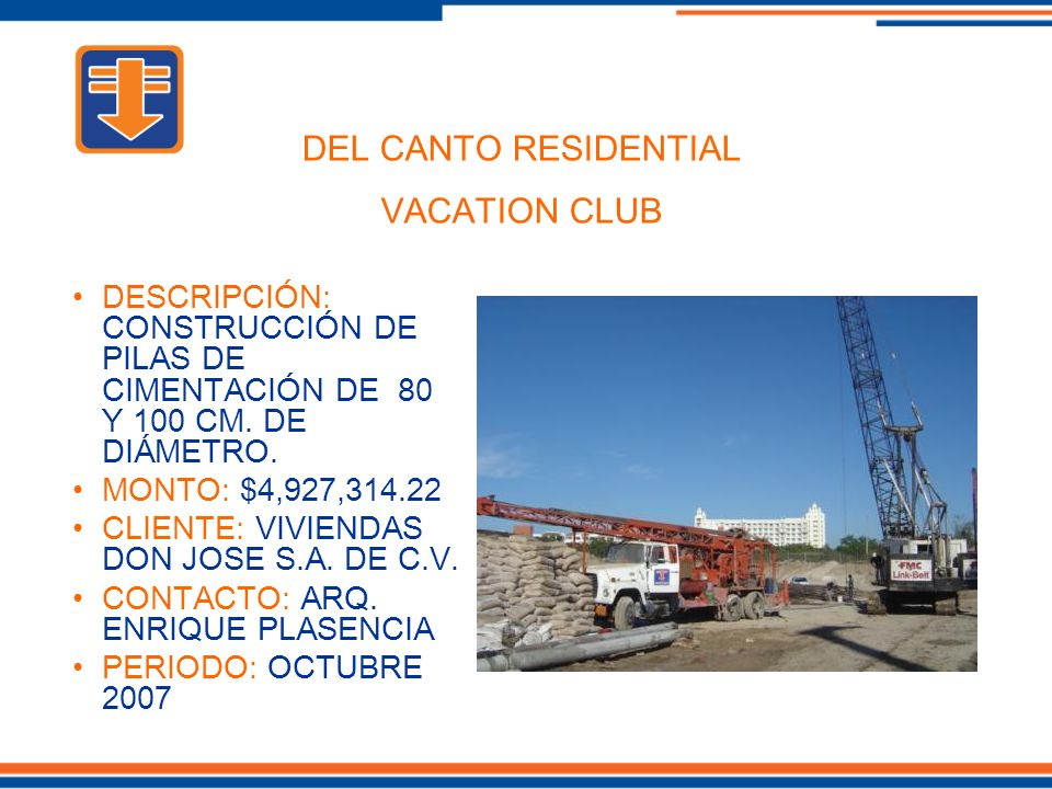 DEL CANTO RESIDENTIAL VACATION CLUB