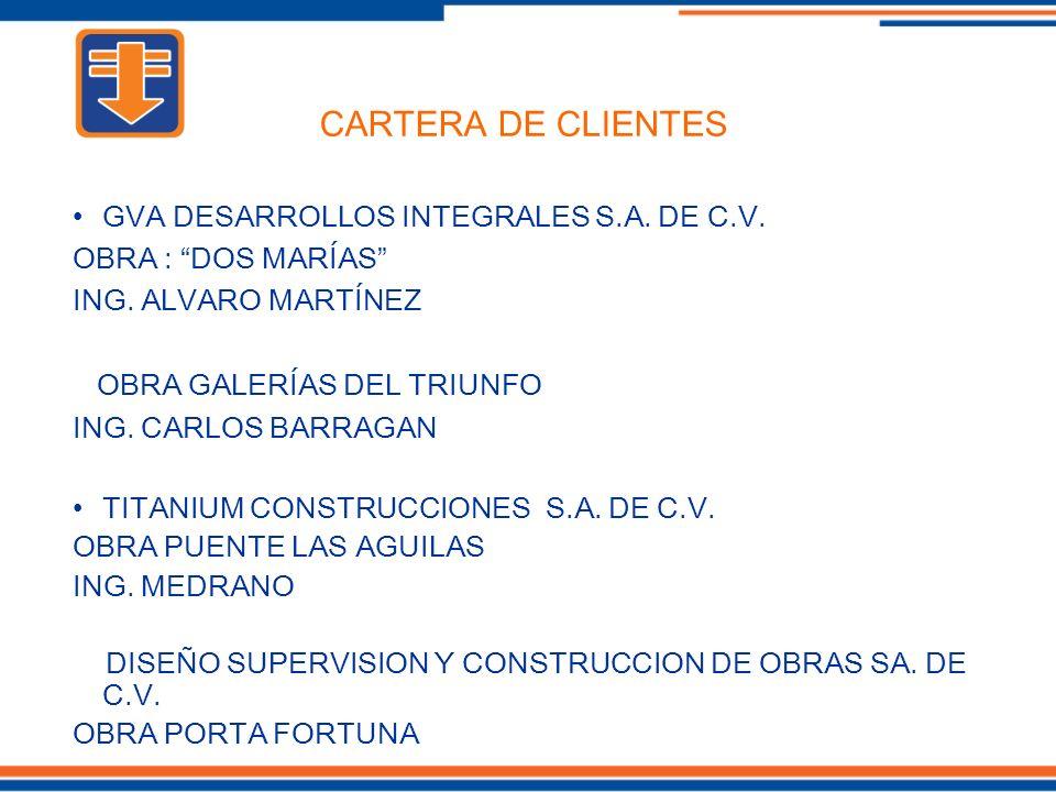 CARTERA DE CLIENTES GVA DESARROLLOS INTEGRALES S.A. DE C.V.