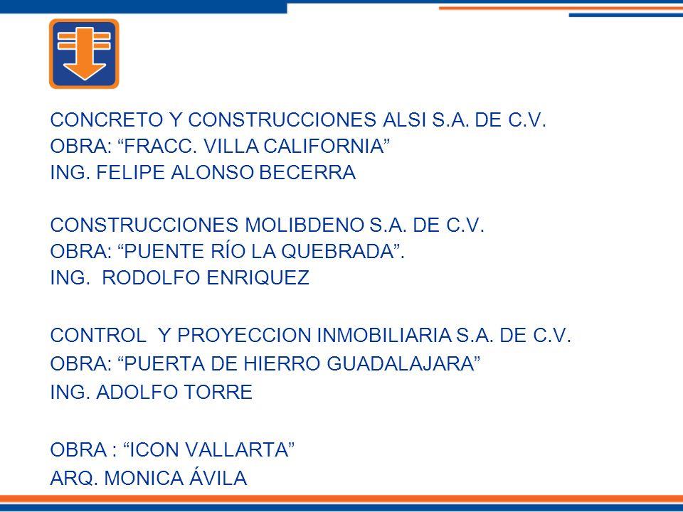 CONCRETO Y CONSTRUCCIONES ALSI S.A. DE C.V.