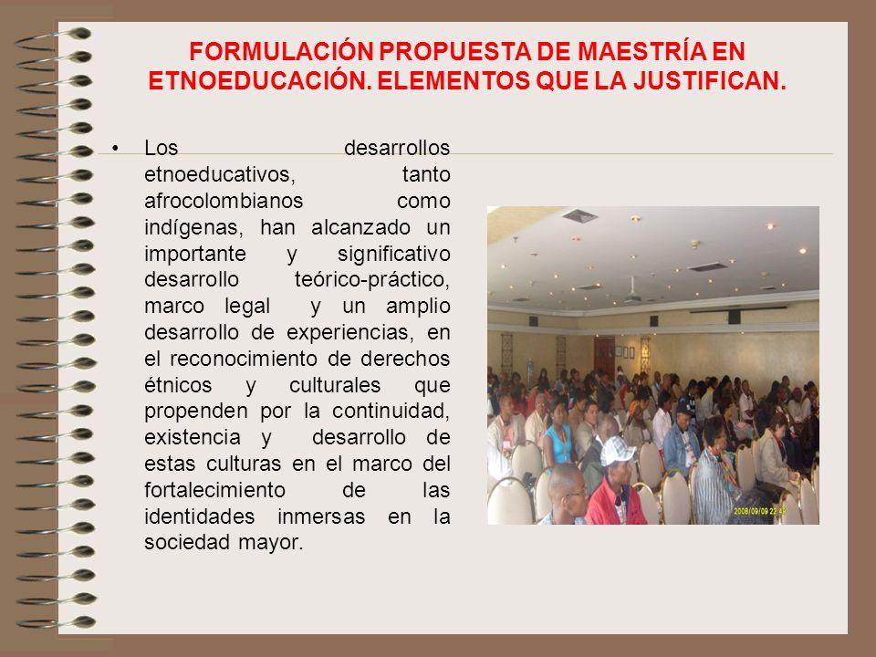 FORMULACIÓN PROPUESTA DE MAESTRÍA EN ETNOEDUCACIÓN