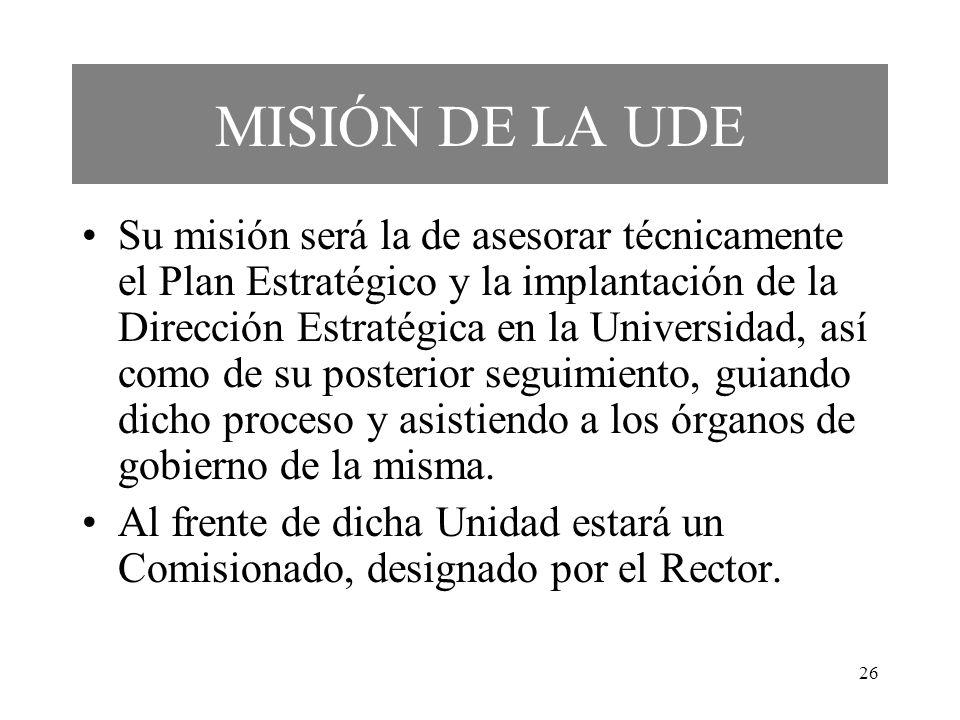 MISIÓN DE LA UDE